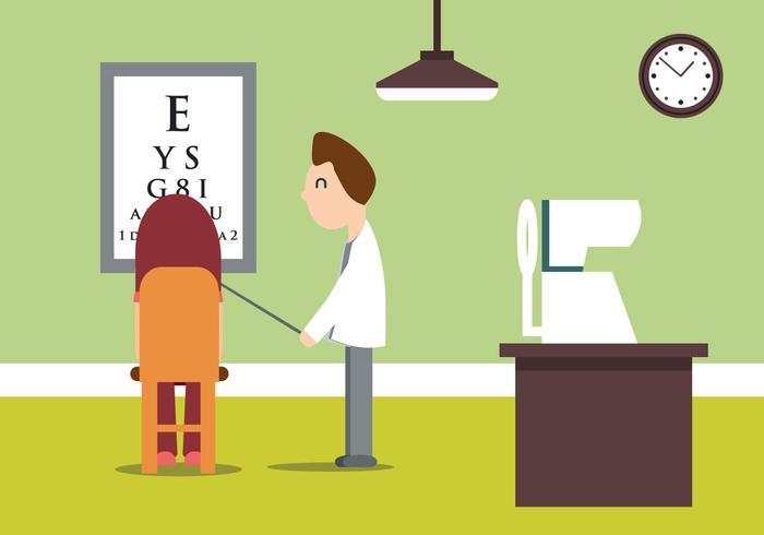 Ögonläkare Vector Illustration