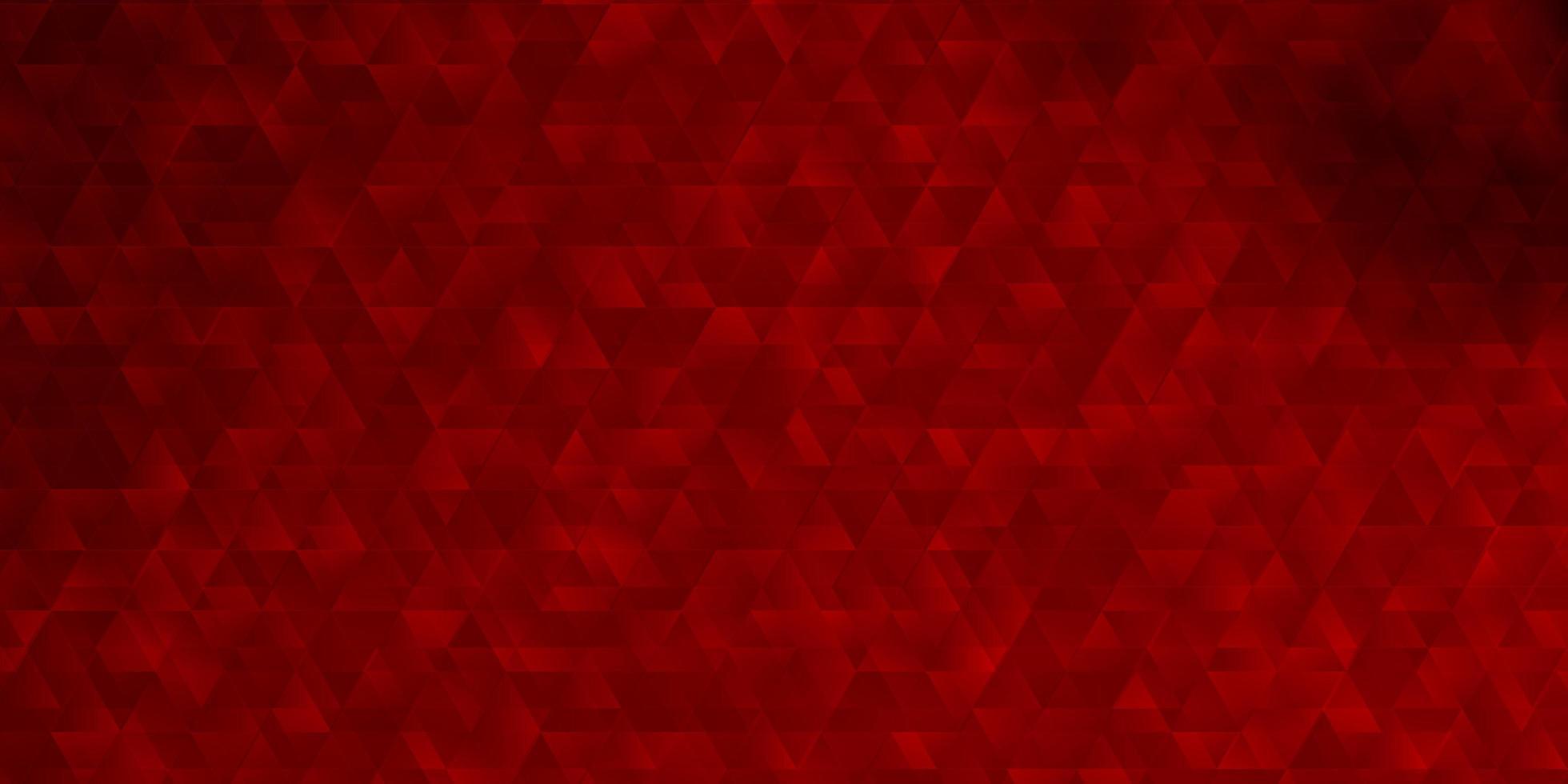 rote Schablone mit Dreiecken. vektor