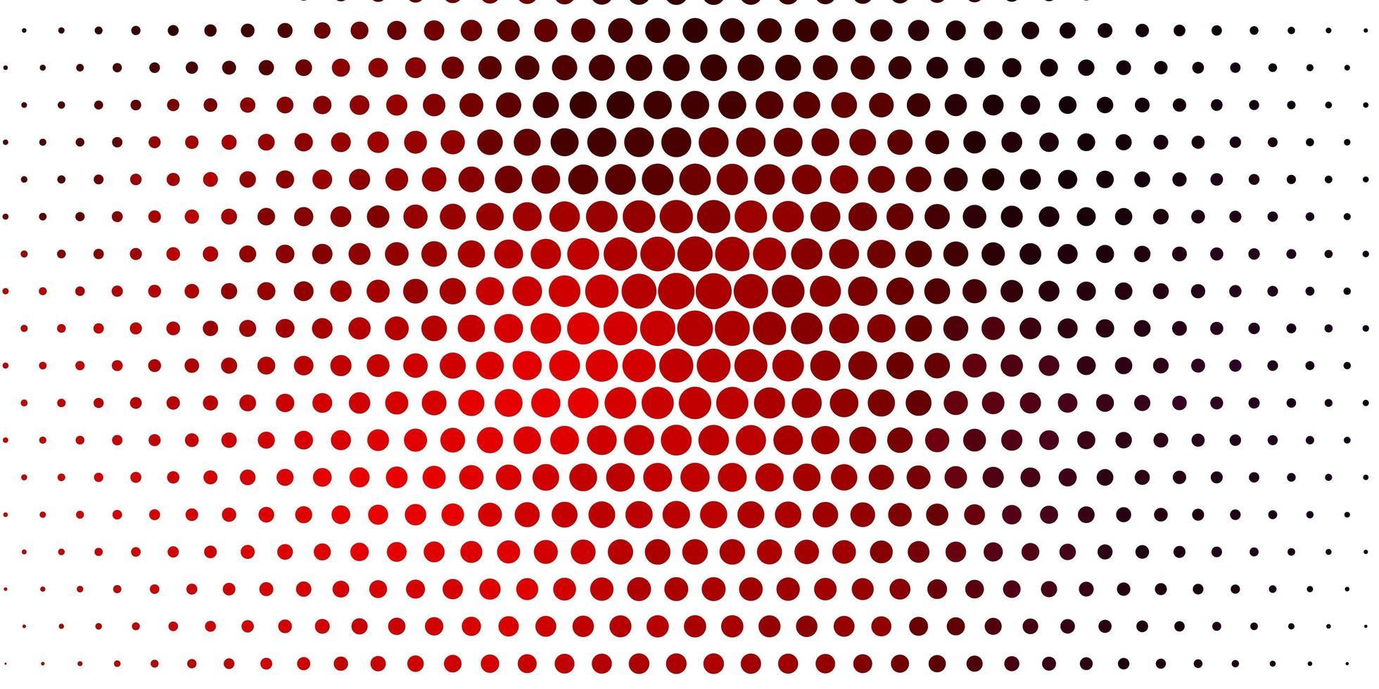 rött mönster med sfärer. vektor