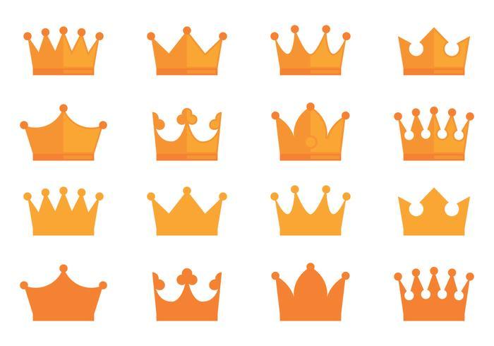 Crown Awards Ikoner Collection vektor
