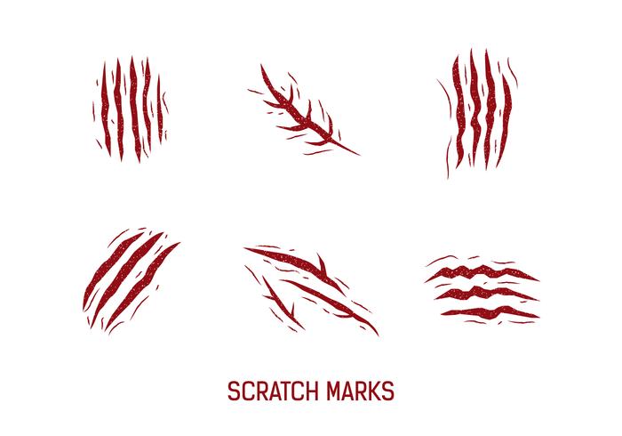 Gratis-Kratzer-Markierungen Vektor