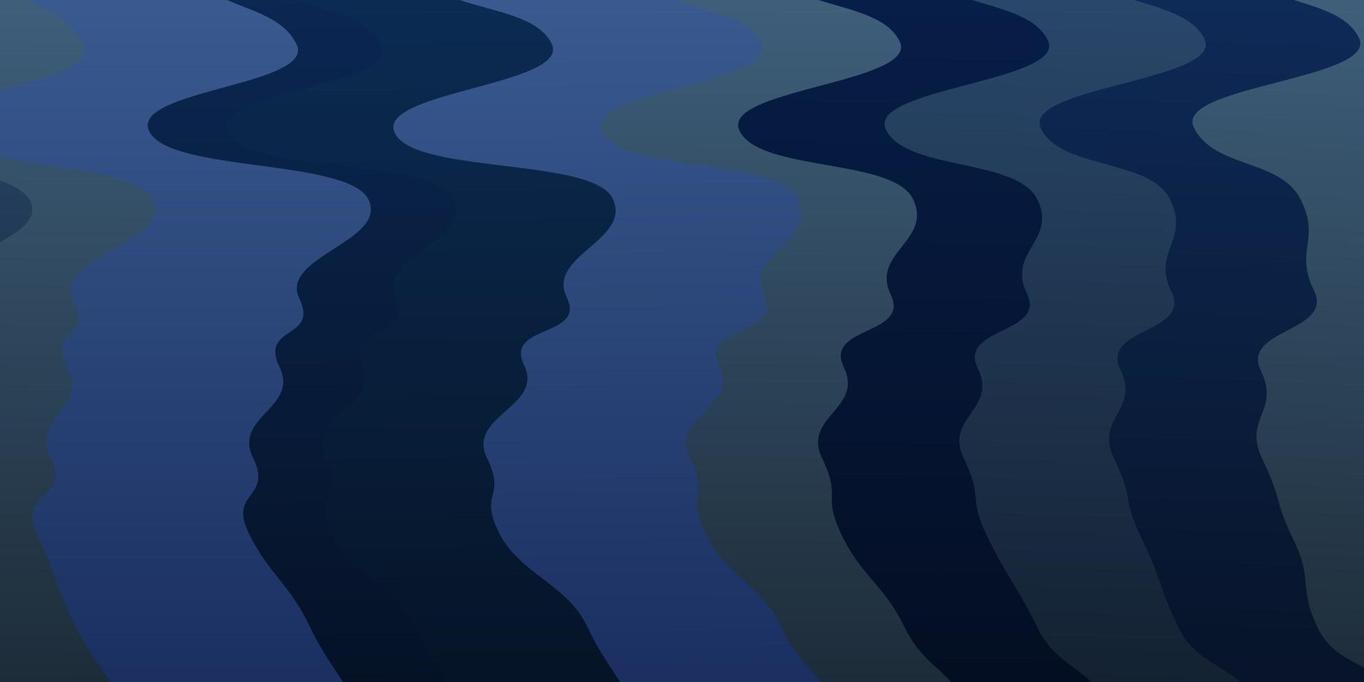 blå mall med böjda linjer. vektor
