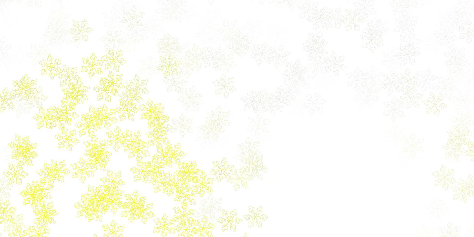 ljusgul bakgrund med blommor. vektor
