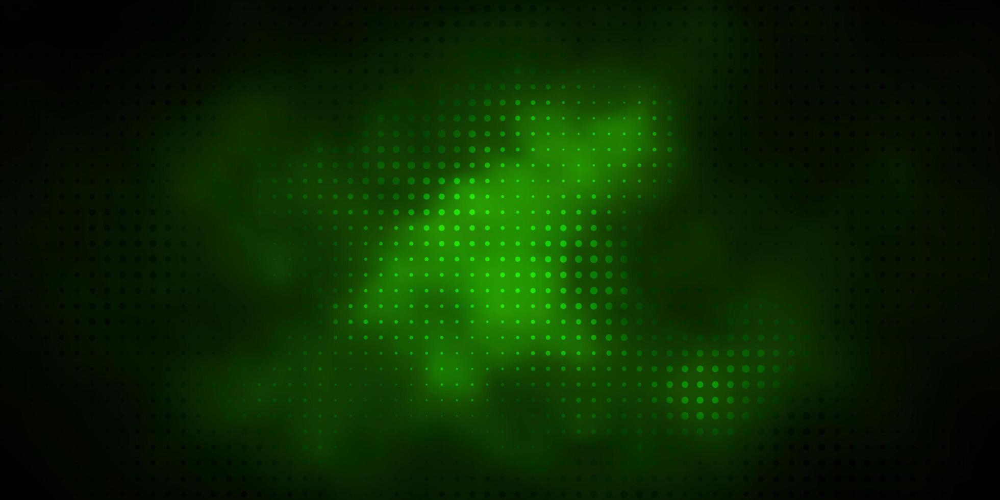mörkgrön konsistens med cirklar. vektor