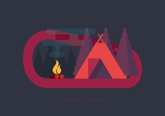 Camp Karabinerhaken Illustration vektor