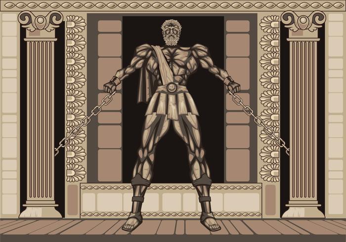 Statue The Legendary des Herkules vektor