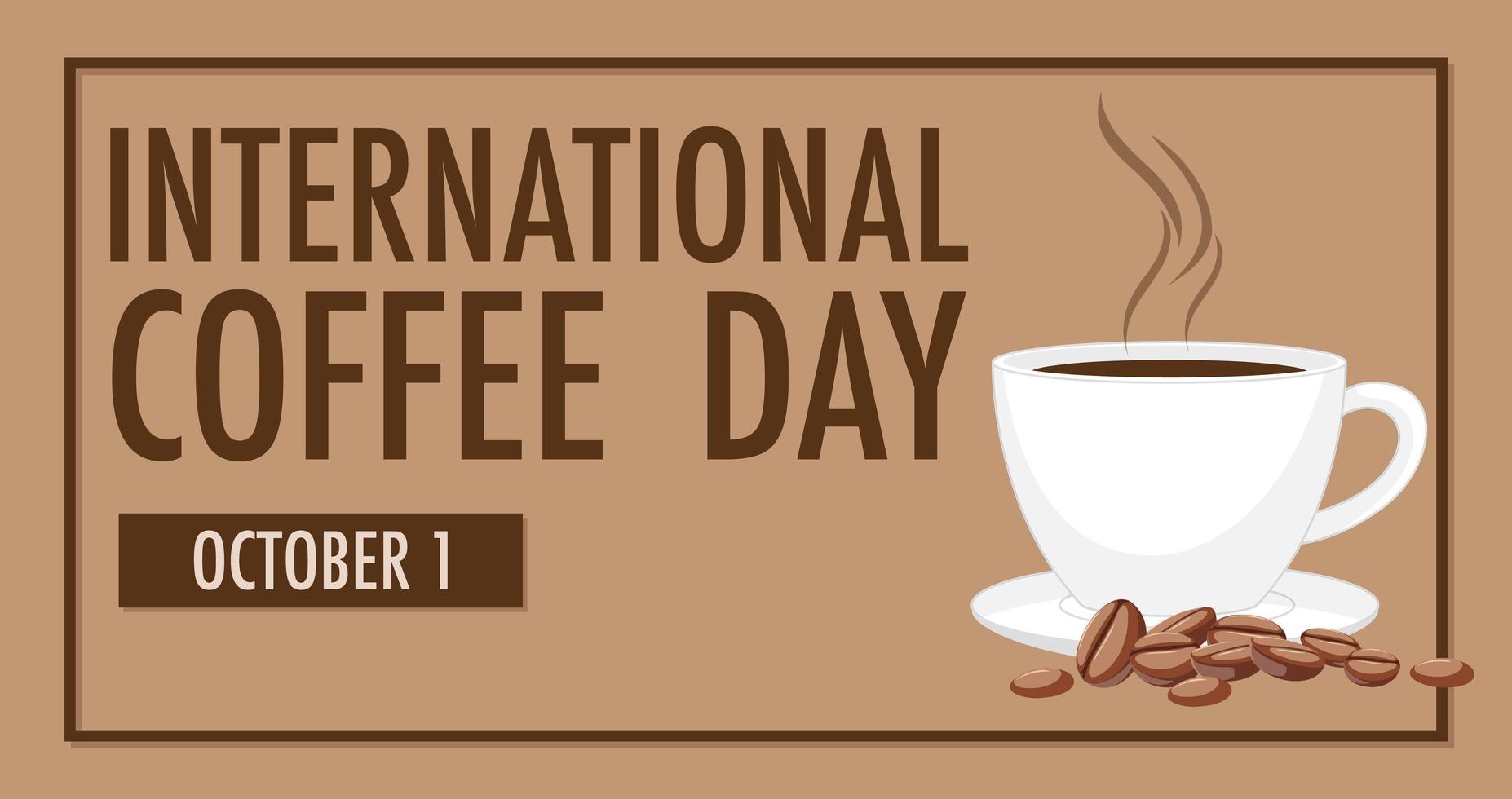 internationales Kaffeetagsbanner vektor