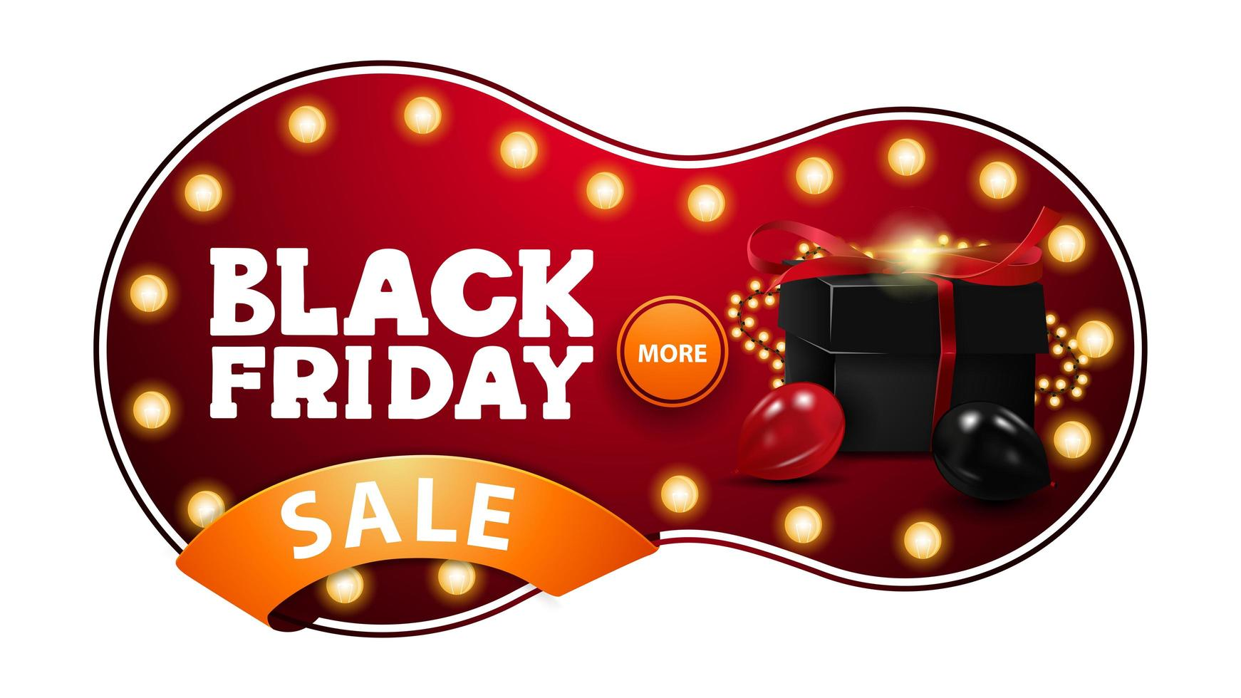 svart fredag försäljning, röd rabatt banner vektor