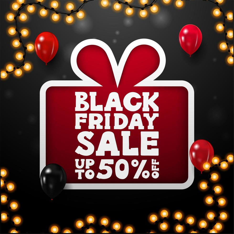 svart fredag försäljning, upp till 50 rabatt presentaffisch vektor