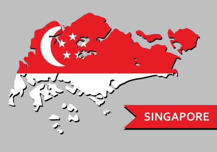Singapur Karte vektor