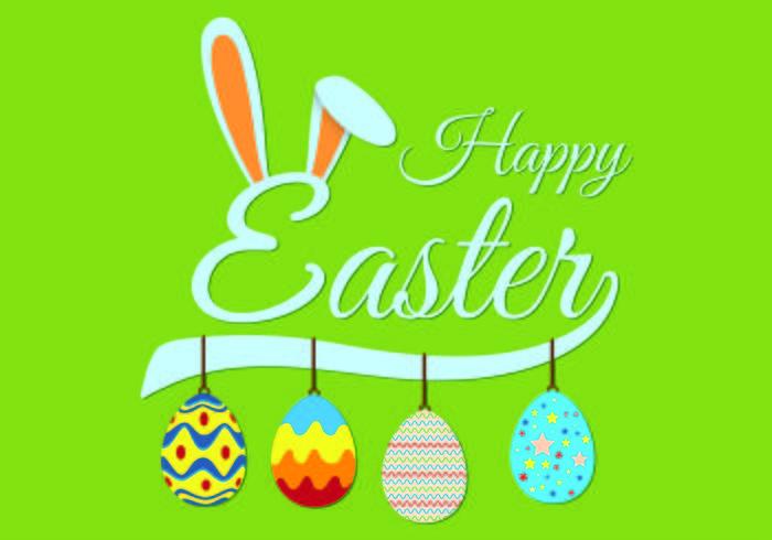 Easter Bunny Ears Hintergrund Vektor