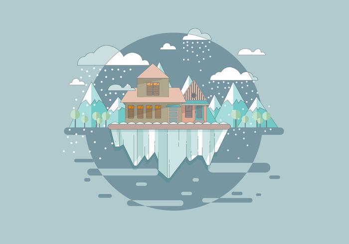 Snöstorm Mountain Vector
