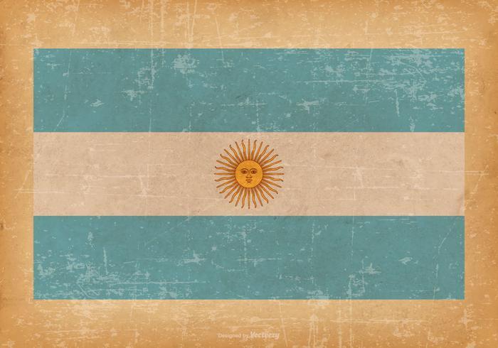 Flagge von Argentinien auf Grunge Hintergrund vektor