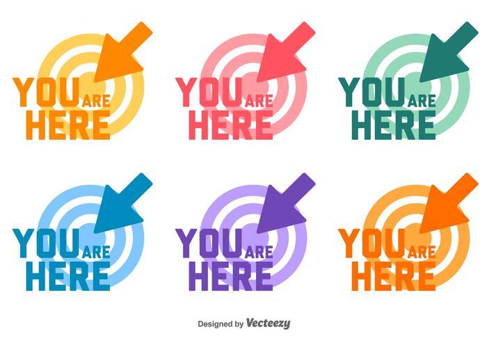 Du är här målet Vector