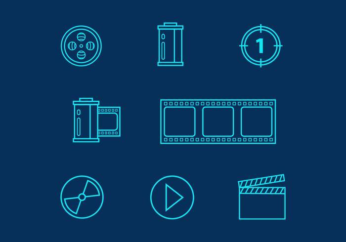 Free Film Vector Linie Icons