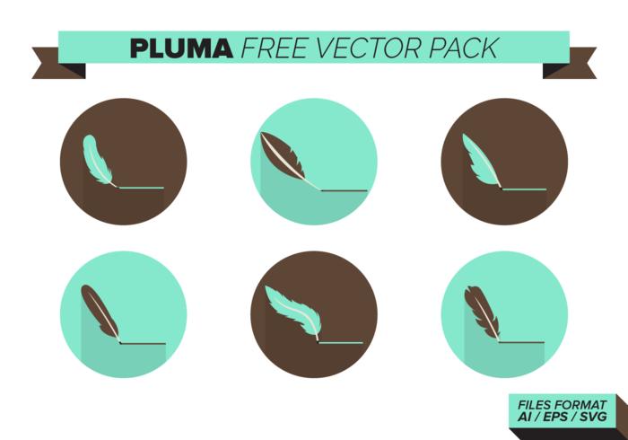 Pluma Free Vector-Pack vektor