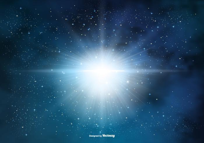 Supernova-Platz-Hintergrund vektor