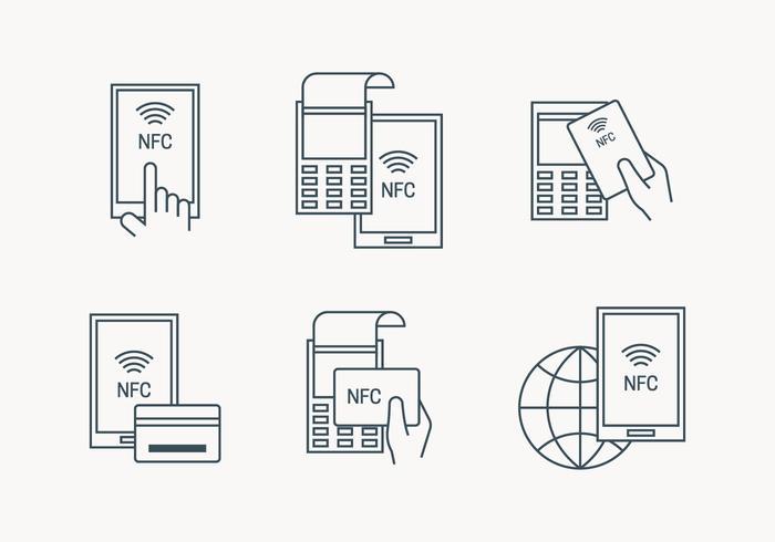 NFC Payment-Symbol vektor