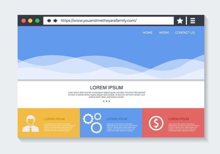 Free Web-Browser mit Website Vector
