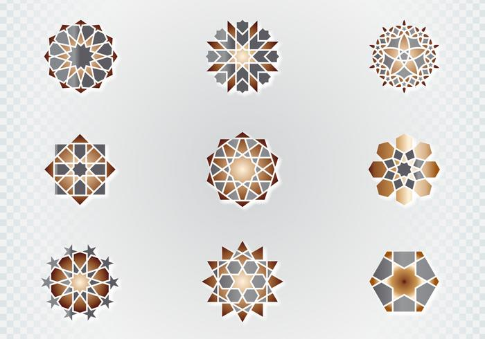 Arabisch Zier Symbole vektor