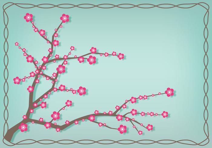 Japanische Plum Blossom Illustration vektor