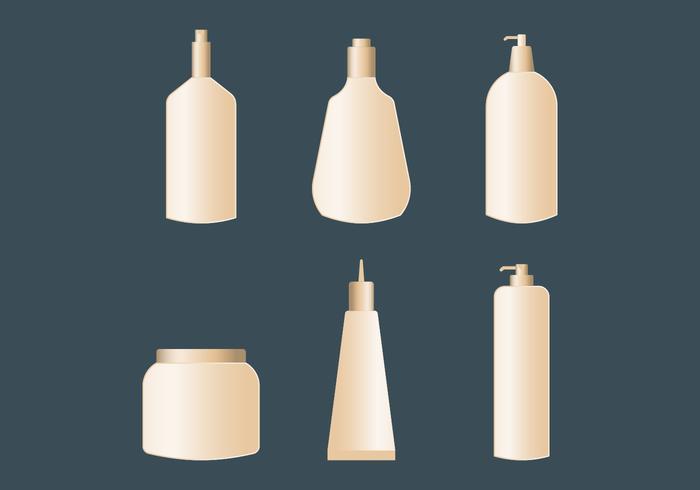 Kosmetiska förpackningar Vektorer