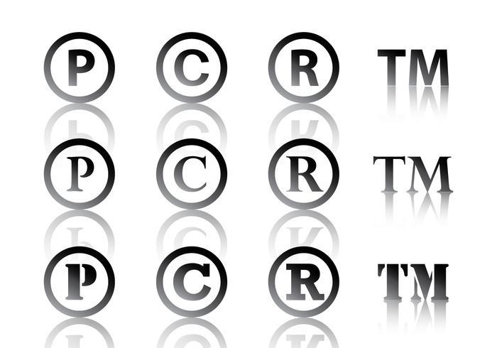 Schwarz Copyright Symbol vektor