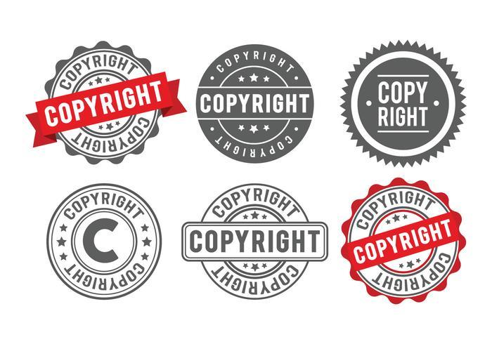 Copyright-Stempel-Abzeichen vektor