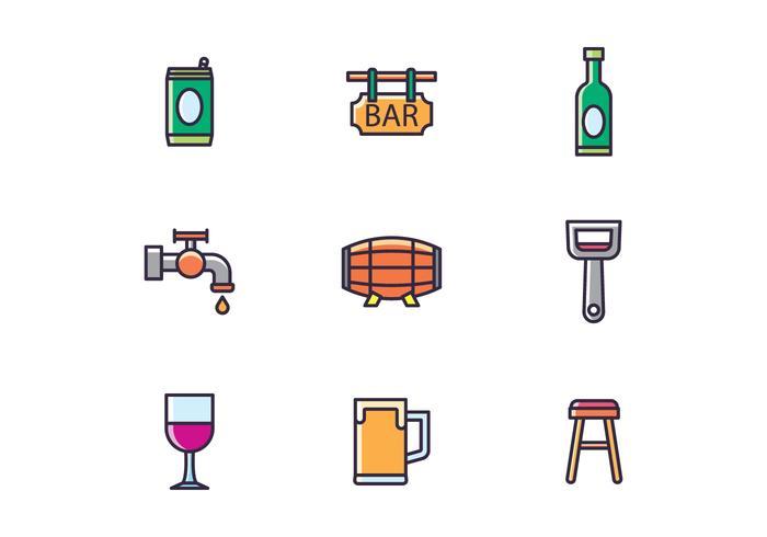 Bar & Getränke Icons vektor