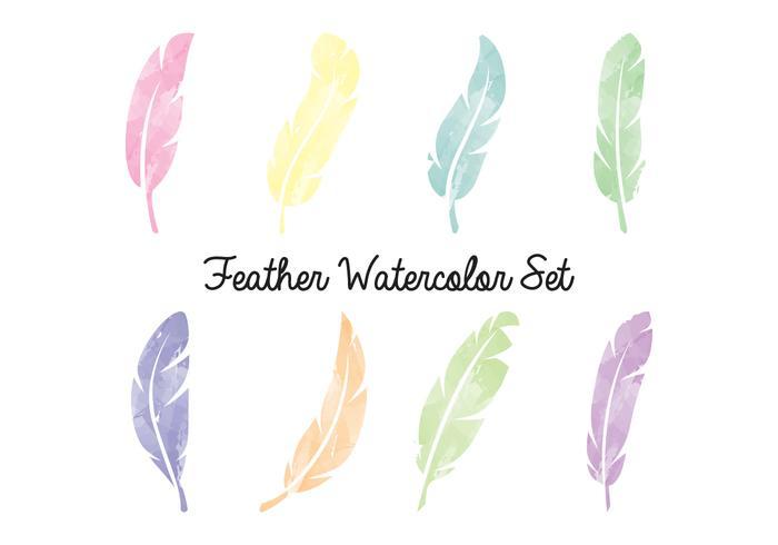 Feder-Aquarell Set vektor