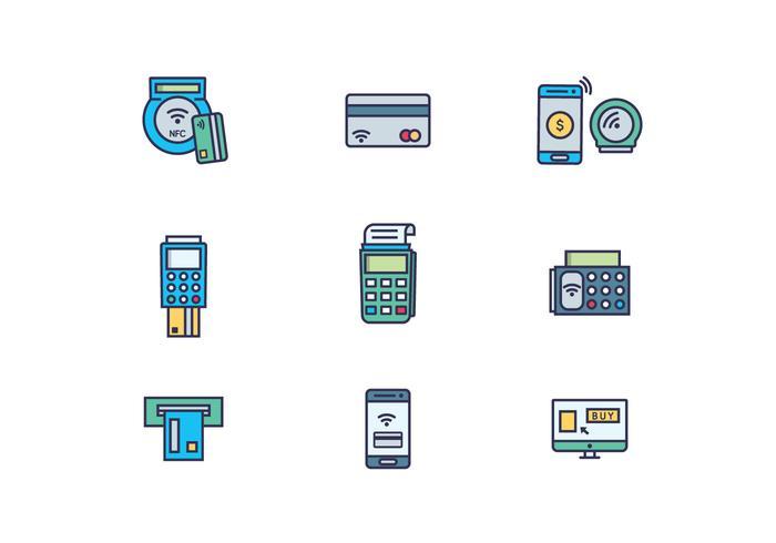 Icon Pack E-handel Betalning vektor