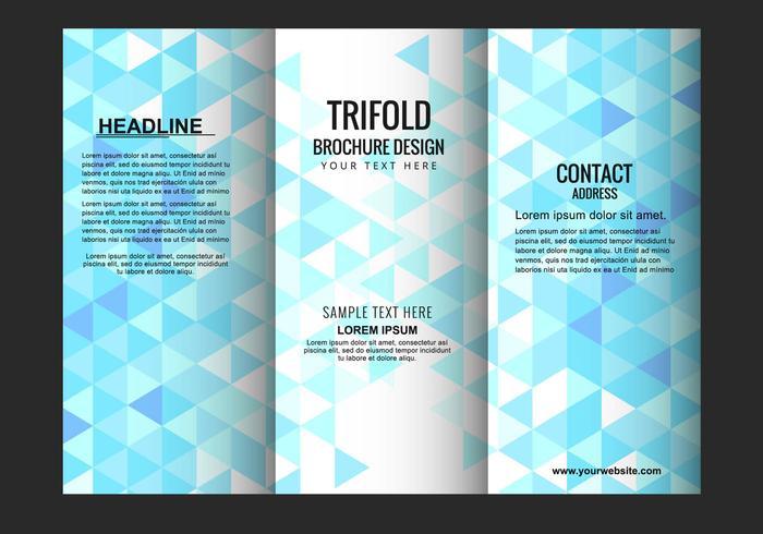 Gratis Vector Trifold broschyr mall