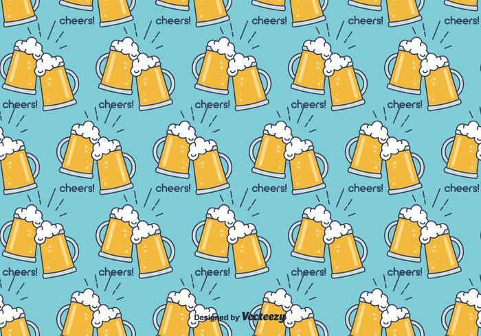 Cerveja- öl Vector Mönster