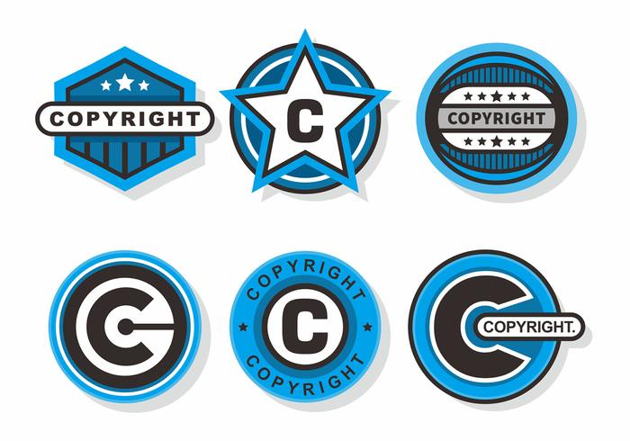 Copyright Frimärken Vector Set