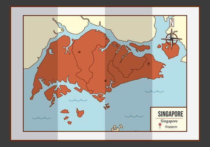 Singapore Karta Illustration vektor