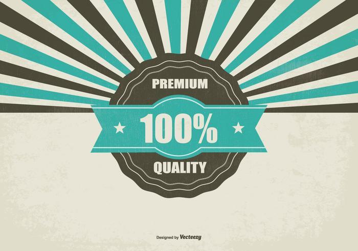 Werbe Retro Premium-Qualität Hintergrund vektor