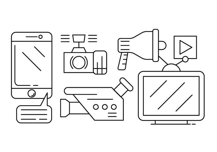 Free Media-Vektor-Icons vektor