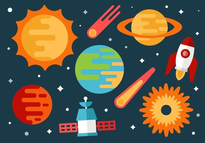 Free Space und Universum Vektor Hintergrund