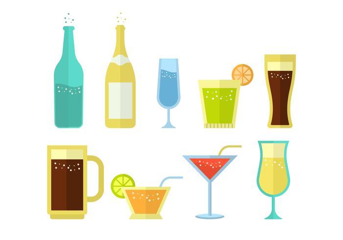 Freies Soda und alkoholisches Getränk Vektor-Sammlung vektor