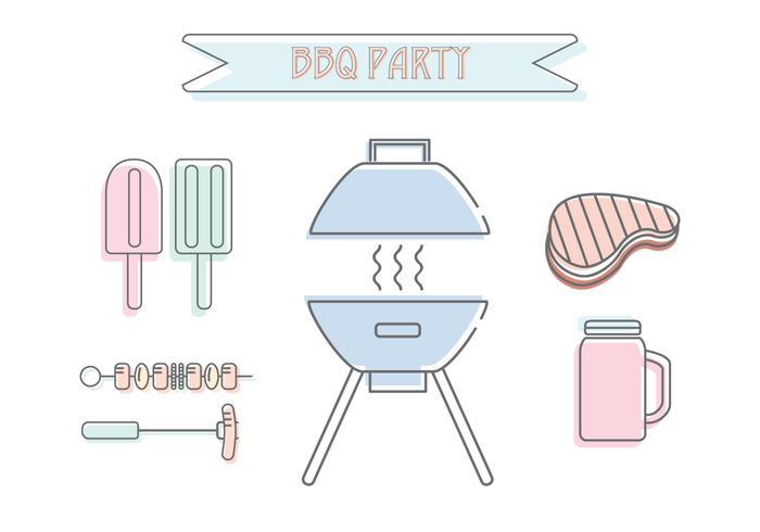 Barbecue-Party-Vektor vektor