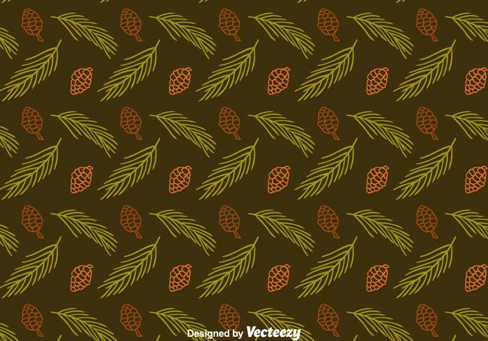 Kottar och löv Seamless Vector