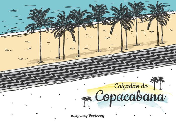 Copacabana Vector Bakgrund