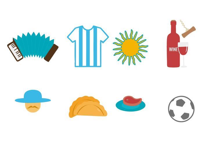 Freies Argentinien Icons Vector