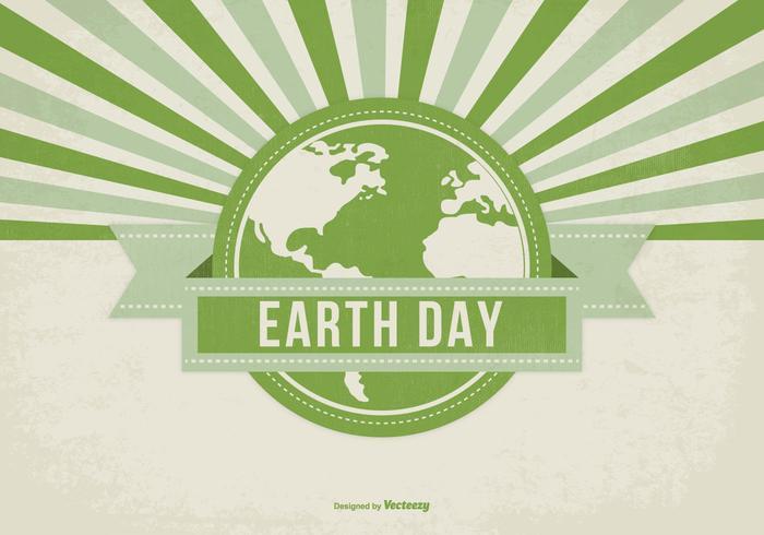 Retro Style Earth Day Illustration vektor