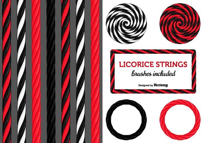 Schwarze und rote Lakritz-Süßigkeits-Strings vektor