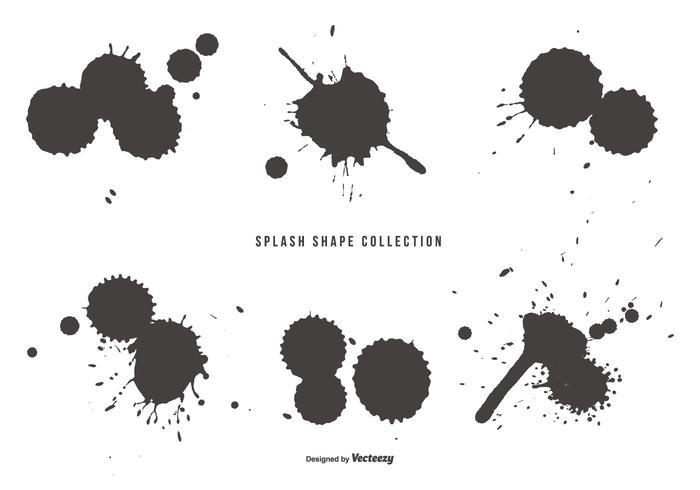 Splash Shapes Sammlung vektor