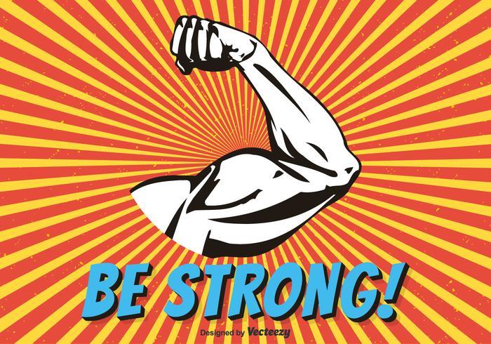 Biceps Flex Arm Vector Illustration