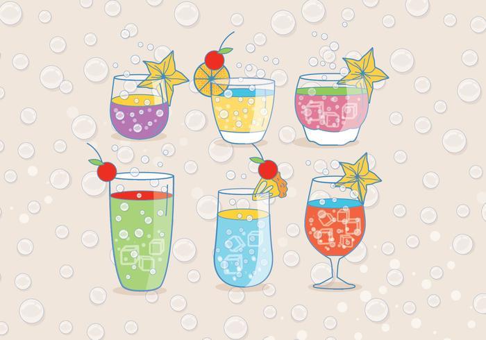 Uppfriskande Fizz Drink Vectors