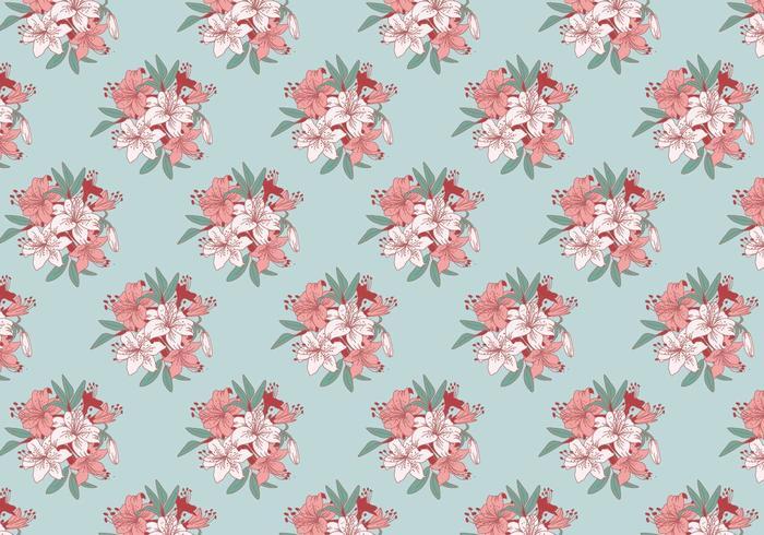 Rhododendron Klassische Muster-Vektor vektor