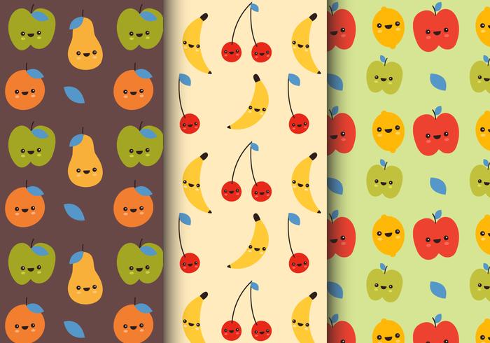 Gratis Leende Frukt Mönster vektor